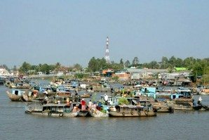 Exit to Cambodia through the lower Mekong river