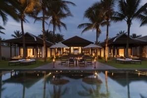 Bedroom Pool Villa Dusk The Nam Hai Resort
