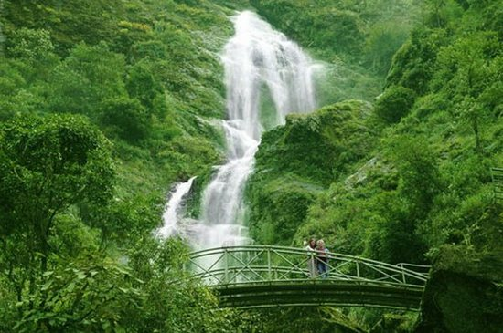 Thac Bac Waterfall in Vietnam