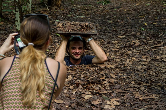 Cu Chi tunnels is on of the top 10 attractions travelers must visit in Ho Chi Minh City