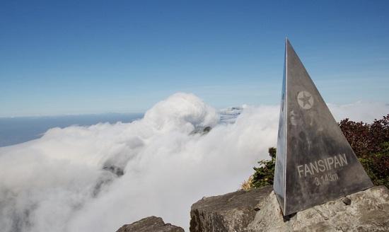 Fansipan peak in Vietnam