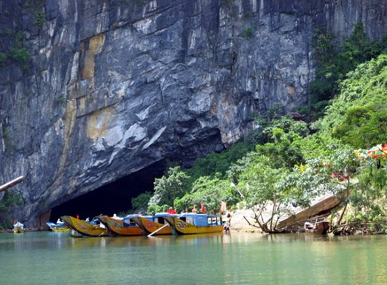 Phong nha - Ke bang in Vietnam is a UNESCO World Heritage site