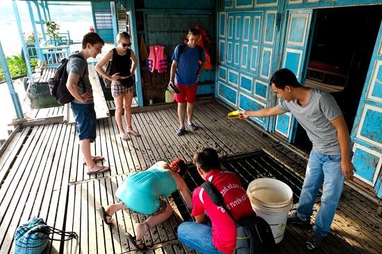 Mekong Delta floating fish farm