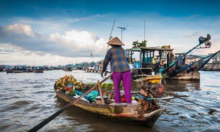 Cai Rang floating market in Mekong Delta, Vietnam
