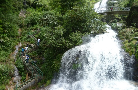 Silver waterfall (Thac Bac) in Sapa