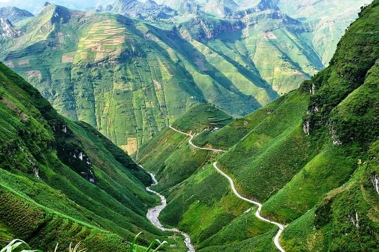 Ma Pi Leng Pass in Ha Giang Vietnam