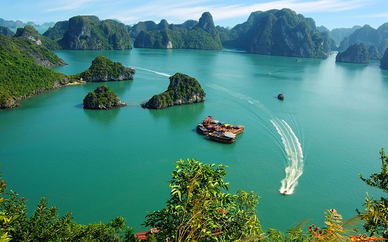 Halong bay is most-visted tourist attraction in Vietnam