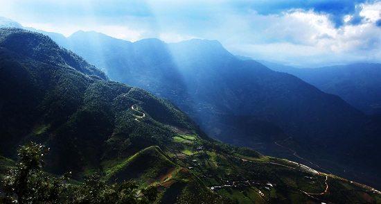 Khau Pha Pass in Yen Bai Vietnam