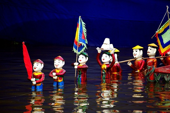 water puppet in saigon