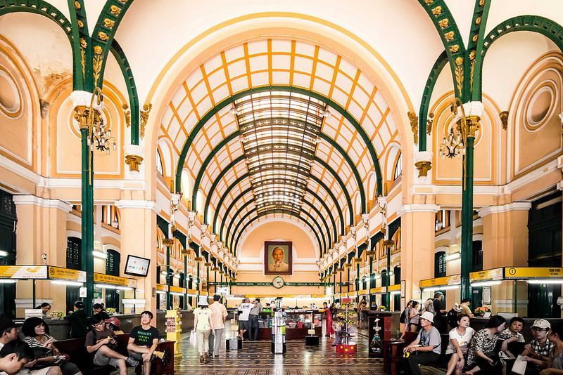 Central Post Office in Ho Chi Minh city