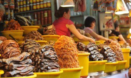 Chau Doc fish sauce market, An Giang, Vietnam