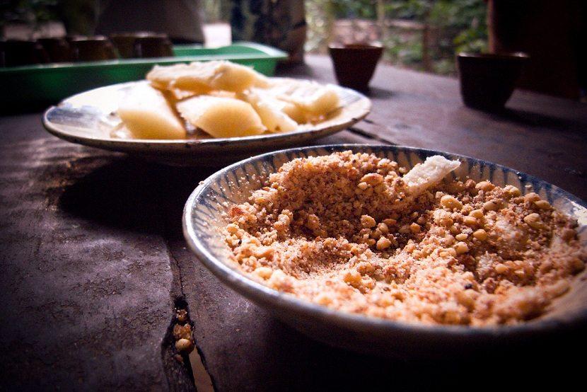 humble food at Cu Chi Tunnels
