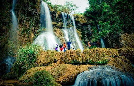Dai Yem waterfalls in Moc Chau, Vietnam