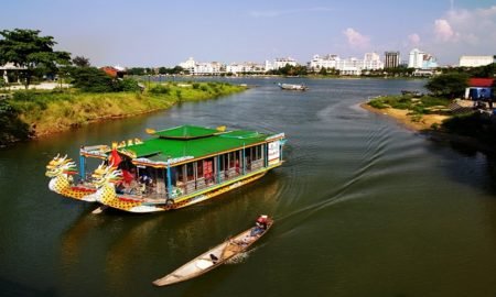 Huong River in Hue
