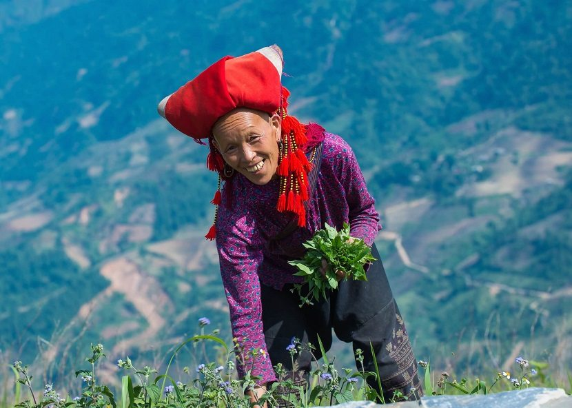 Red Dao ethnic people in Sapa