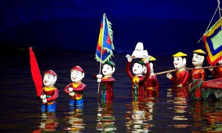 Thang Long water puppet in Hanoi