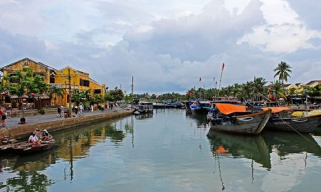 Thu Bon river in Hoi An