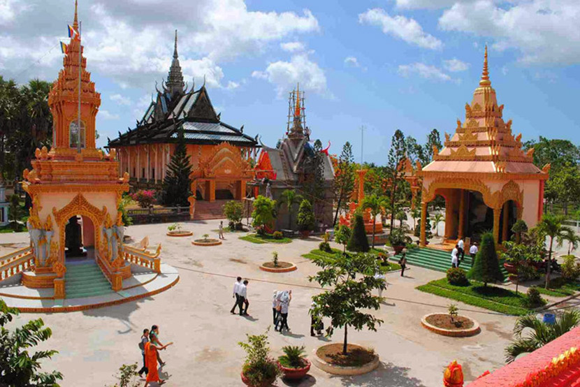 Khmer Pagodas in Can Tho
