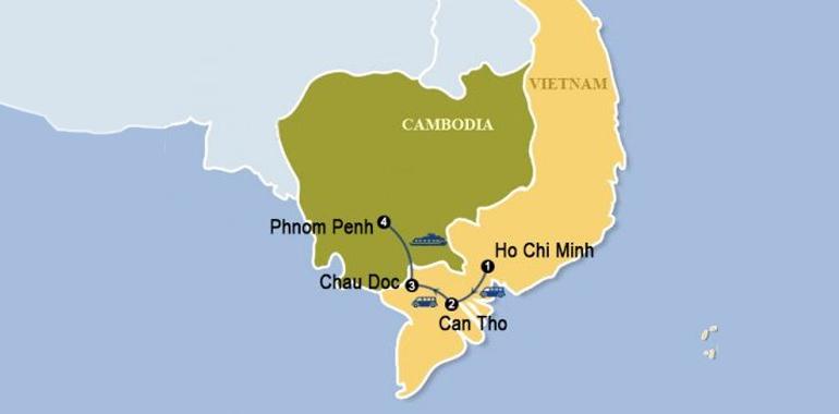 Phnom Penh - Mekong Delta Map