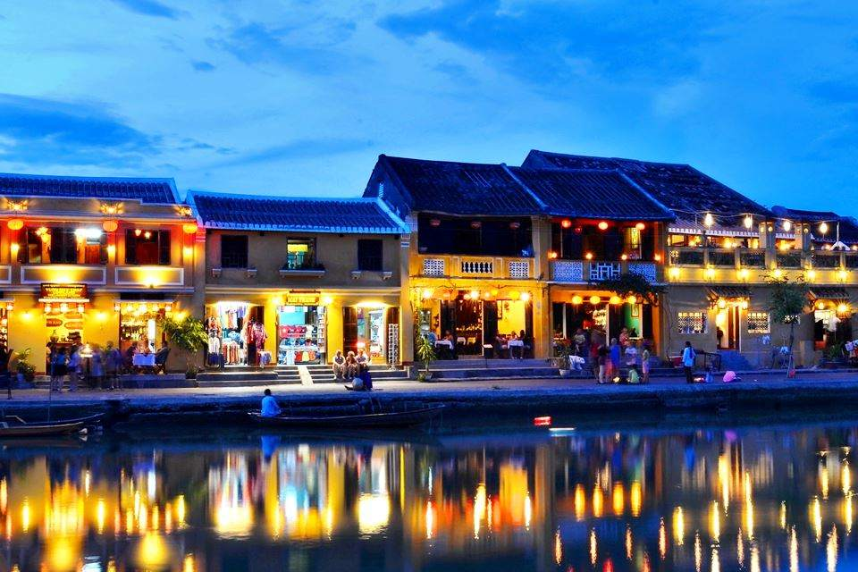 the ancient town of Hoi An